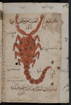 Kitab al-Bulhan or Book of Wonders (late 14thC.), Arabic manuscript , which is dedicated to astrology, astronomy and geomancy and which was compiled by Abd al-Hasan Al-Isfahani