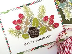 Happy Holidays Card by Danielle Flanders for Papertrey Ink (September 2016)