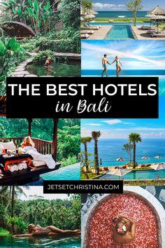 The Best Hotels in Bali - Where to Stay in Ubud, Uluwatu, Canggu, Seminyak, Nusa Lembongan and More - JetsetChristina Bali Honeymoon, Honeymoon Vacations, Romantic Honeymoon, Honeymoon Destinations, Dream Vacations, Vacation Spots, Honeymoon Ideas, Honeymoon Pictures, Honeymoon Places