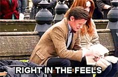 "When the Doctor finally says goodbye to the Ponds. | All The GIFs You'll Need To Express Your ""Doctor Who"" Feels"