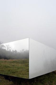 natura futura arquitectura wraps invisible portal with mirrors in ecuador