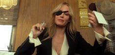 Tarantino woman: Kill Bill Vol. Tarantino Filmography, Quentin Tarantino, Action Film, Action Movies, Kill Bill Costume, Daryl Hannah, Jackson Browne, Jfk Jr, Kim Basinger