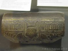 Reverend's Big Blog of Leather - From England, AD 1475-1525 This archer's bracer is made of cuir bouilli (boiled leather). It is stamped with a crowned Tudor rose, oak leaves and acorns and the inscription 'ihc helpe' ('Jesus help'). The British Museum
