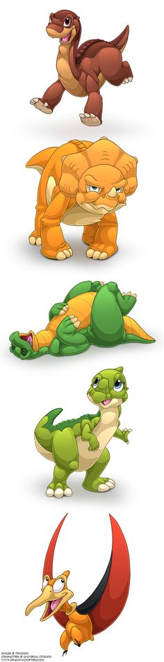 Land Before Time, Original Characters  AND CHOMPER!
