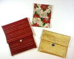 Embalagens de presente com fitas decoradas