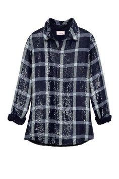 Sequined shirt, Ashish, $1,655, collection at Susan, San Francisco
