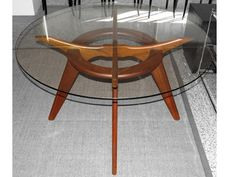 Best Dining Table Images On Pinterest Dining Room Furniture - Mid century modern glass top dining table