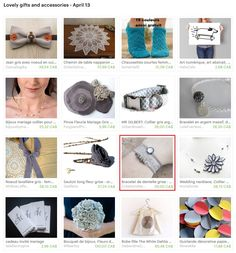 My lace bracelet (Janie) is in this treasury : Lovely gifts and accessories - April 13 by Cris D. on Etsy