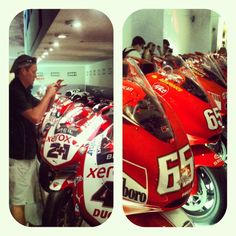 """Ducati museum: red is the color"" - Instagram by @n_montemaggi"