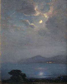 Georges Ricard-Cordingley (1873-1939) - Clair de Lune sur Cannes