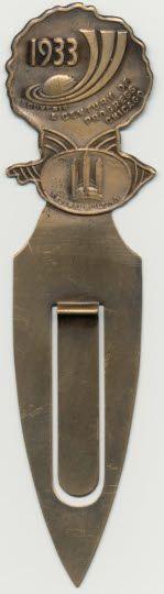 Souvenir bookmark, 1933 Chicago fair