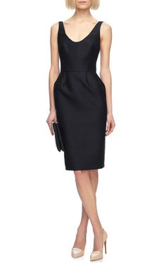 Wool and Silk Blend Fitted Dress by Martin Grant - Moda Operandi