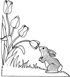 23 Printable Spring Flower & Activity Coloring Pages / Free Printable Coloring Pages for Kids - Coloring Books Bunny Coloring Pages, Spring Coloring Pages, Horse Coloring Pages, Flower Coloring Pages, Free Printable Coloring Pages, Free Coloring, Coloring Pages For Kids, Coloring Books, Pictures Of Spring Flowers