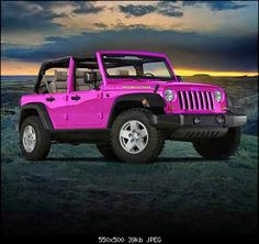 Weakness ~ I can't help it! I love pink Jeeps!!!