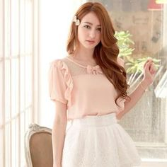 Buy 'Tokyo Fashion – Mesh-Panel Ruffled Blouse' with Free International Shipping at YesStyle.com. Browse and shop for thousands of Asian fashion items from Taiwan and more!