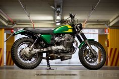 This very appealing scrambler is built on the Moto Guzzi Nevada platform—an unorthodox choice from Italy's famous Officine Rossopuro workshop.