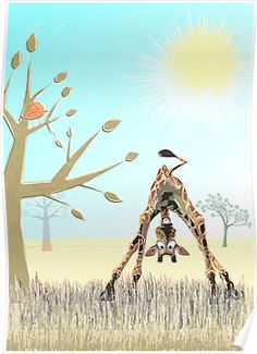 Says Olympia the Giraffe by Kay Patterson Funny Animal Videos, Funny Animal Pictures, Cute Pictures, Funny Animals, Cute Animals, Giraffe Decor, Giraffe Art, Cute Giraffe, Cartoon Drawings