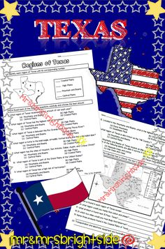 Regions of Texas assignment / quiz regarding the 4 regions of Texas with 20 questions.