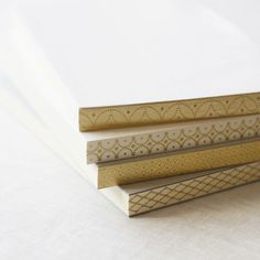 A personal favorite from my Etsy shop https://www.etsy.com/listing/265151604/4-pattern-unique-gold-leaf-binding-graph