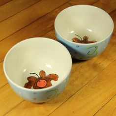 Party Ice Cream Dessert Bowls Let Them Eat Cake The Essex Collection 2 PC Blue #TheEssexCollection