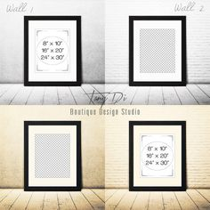 8x10 Portrait Black Wood Matted Frame on by TanyDiDesignStudio