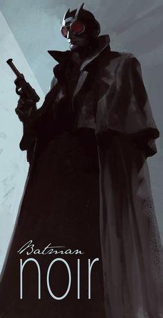 Batman, Catwoman, Riddler and Joker Noir by Henrik Sahlstrom