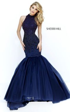 Unique Mermaid Prom Dress with Bling Sequins sherri hill 32345