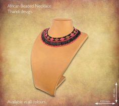 Traditional African Beaded Necklaces handmade by highly skilled Zulu Beadworkers from South Africa. African Jewelry including beaded bangles, bracelets and earrings. African Beads Necklace, African Jewelry, Handmade Necklaces, Beaded Jewelry, African Crafts, Zulu, South Africa, Bangles, Bead Jewelry