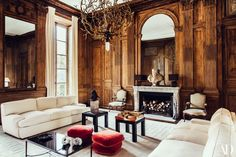 thank you for alerting us of a fantastic book on Pierre Sauvage - a must! His Salon, with its wonderful boiserie and elegant design, - seen here in a photo by -is one of our all time favorite spaces, so we can't wait for the book! Glam Living Room, Formal Living Rooms, Home And Living, Living Room Decor, Living Spaces, Living Area, Dining Room, Architectural Digest, Living Room Inspiration