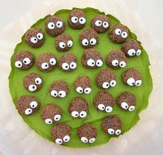 Soot sprite truffles for Totoro party.