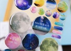 New Romantic Starry sky Crystal style sticker DIY note label sign Post students' diary mini sticker Wholesale Youre Everything To Me, Galaxy Print, Diy Stickers, Educational Supplies, Romantic, Crystals, Label, Students, Gifts