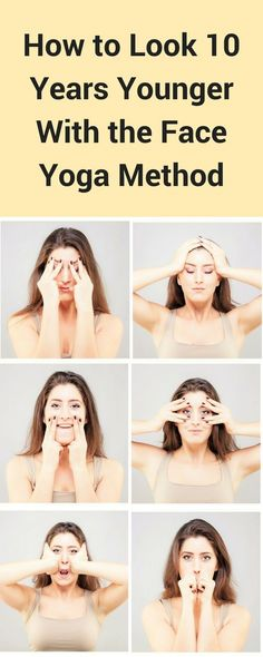 Face Yoga makes you look younger by toning the face. Try the perfect face yoga program to make you look and feel younger. Lose face fat and feel young again. #yogaposes #yogaforbeginners #faceyoga