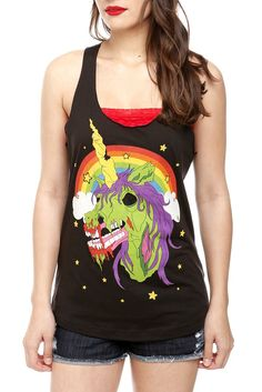zombie unicorn shirt I would totally wear this