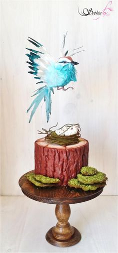 """ Wafer Paper Bird Cake ""  by Sophia  Fox"