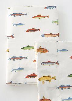 Boys Bedding Fish Sheet Set # Pin Maudjesstyling #