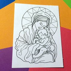 Madonna and Child Christmas Catholic Holidays PNG JPG by FaeryInk