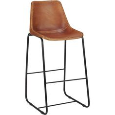 """roadhouse 24"""" leather bar stool in dining chairs, bar stools 