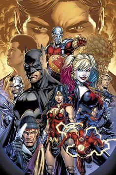 "extraordinarycomics: ""Suicide Squad & The Justice League by Jason Fabok. """