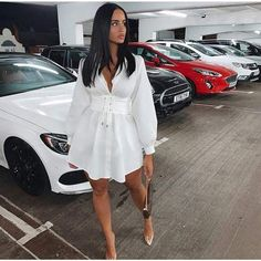 Women Streetwear All Season e Up T Shirt Dress Shirtdress Outfit, Belted Shirt Dress, Mini Shirt Dress, Long Sleeve Shirt Dress, Dress Long, Blazer Dress, White Shirt Dresses, White Long Sleeve Shirt Outfit, All White Outfit