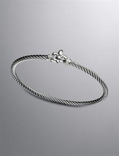 Cable Collectibles® Bracelet, Fleur de lis | Women Bracelets | David Yurman Official Store