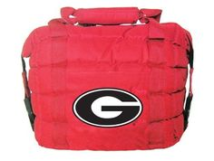 """GEORGIA BULLDOGS NCAA ULTIMATE COOLER BAG by Rivalry. Holds 13 to 15 cans plus ice. Insulated with lead free PEVA liner. Convenient front pocket. Size is 12"""" x 12"""" x 7"""". 16% larger than other 12 pack coolers."""