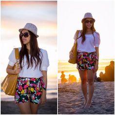 Wet Seal Shorts, Urban Behavior Shirt, Forever 21 Hat, Urban Expressions Bag