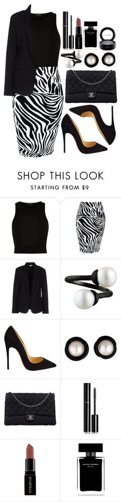 """Untitled #3614"" by natalyasidunova ❤ liked on Polyvore featuring River Island, Maesta, Christian Louboutin, Chanel, Smashbox, Narciso Rodriguez, MAC Cosmetics, women's clothing, women and female"