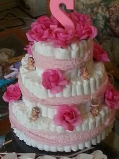My daughters cake, made by my grandmother and husband(: