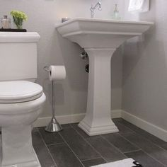 half bathroom ideas gray floor google search