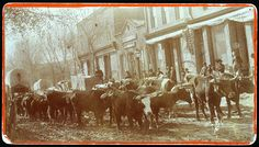 Freighters on Nebraska City's main street 1860 (Nebraska Historical Society).