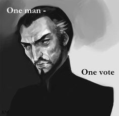 Lord Vetinari. Discworld quote by Sir Terry Pratchett. Illustration from ken-incorporated. by Kim White.