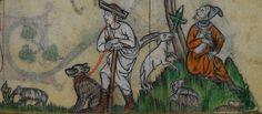 Shepherds gazing. @BLMedieval Stowe MS 17, f. 265r http://www.bl.uk/manuscripts/Viewer.aspx?ref=stowe_ms_17_fs001r…
