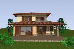 - Mediterrán ház később épülő garázzsal