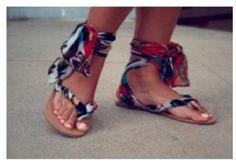 Homemade flip flops